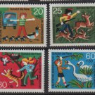Germany 1972 - Scott  B481 - B484 (4) MNH- Animal Protection (13-487)