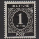 Germany 1946 - Scott 530 MH - 1 pf, Numeral (13-490)