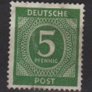 Germany 1946 - Scott 534 used - 5 pf, Numeral (13-501)