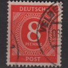 Germany 1946 - Scott 536 used - 8 pf, Numeral(13-507)