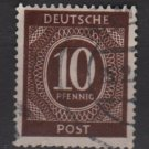 Germany 1946 - Scott 537 used - 10 pf, Numeral (13-511)