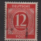 Germany 1946 - Scott 538 used - 12 pf, Numeral (13-515)
