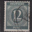 Germany 1946 - Scott 539 used - 12 pf, Numeral (13-519)