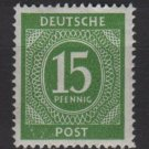 Germany 1946 - Scott 541 MH - 15 pf, Numeral (13-524)