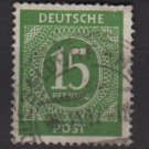 Germany 1946 - Scott 541 used - 15 pf, Numeral (13-527)