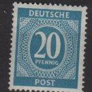 Germany 1946 - Scott 543 MNH - 20 pf, Numeral (13-531)