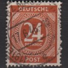 Germany 1946 - Scott 544 used - 24 pf, Numeral (13-534)