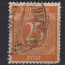 Germany 1946 - Scott 546 used - 25 pf, Numeral (13-542)