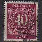 Germany 1946 - Scott 548 used - 40 pf, Numeral  (13-549)
