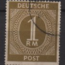 Germany 1946 - Scott 556 used - 1 m, Numeral (13-571)