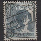 Germany 1947 - Scott 561 used - 12 pf,  Laborer (13-587)
