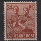Germany 1947 - Scott 565 used - 24 pf, Reaping Wheat (13-592)