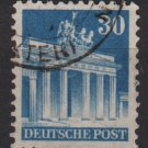 Germany 1948 -Scott 649 used- 30 pf, Brandenburg Gate Berlin (13-649)