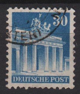 Germany 1948 -Scott 649 used- 30 pf, Brandenburg Gate Berlin (13-649)