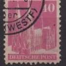 Germany 1948 - Scott 651 used - 40 pf, Cologne Cathedral (13-652)