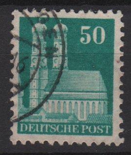 Germany 1948 -Scott 653 used- 50pf, Our Lady's Church Munich  (13-654)