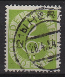 Germany 1951 - Scott 670 used - 2 pf, Numeral & Post Horn (13-667)