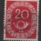 Germany 1951 - Scott 677 used - 20pf, Numeral & Post Horn (F-256)