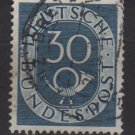 Germany 1951 - Scott 679 used - 30pf, Numeral & Post Horn (4-121)