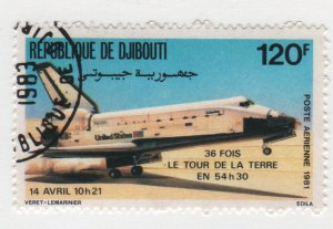 Djibouti 1981 -Scott C150 CTO - 120fr Columbia Space Shuttle (ra-25)