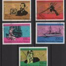 Malagasy 1976 - Scott 553 .. 557 (5) CTOs MNH - Graham Bell 1st Telephone Call  (S - 451)