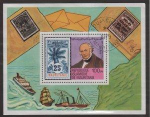 Mauritania 1979 - Scott 419 souvenir sheet CTO - Sir Rowland Hill  (2B-17)