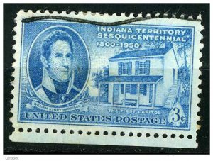 USA 1950 - Scott 996 used - 3c, Indiana Territory  (N-413)