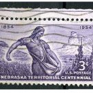 USA 1954 - Scott 1060 used - 3c, NebraskaTerritory issue (N-450)