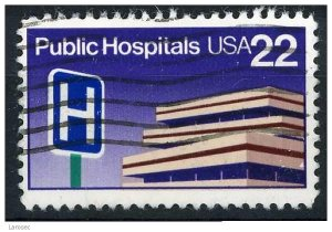 USA 1986 - Scott 2210 used - 22c, Public Hospitals  (o-631)