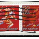 USA 1987 - Scott 2247 used - Pan American Games, Runner  (R-220)
