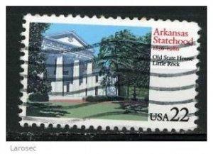 USA 1986 - Scott 2167 used - 22c, Arkansas Statehood (o-609)