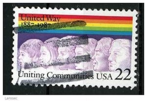 USA 1987 - Scott 2275 used - 22c, Uniting Communities  (d-146)