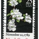 USA 1987 - Scott 2347 used - 25c, North Carolina, blossom (d-149)