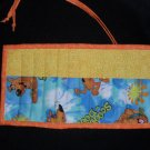 Hand Crafted Scooby Doo Crayon Holder Roll Up with Orange Tie