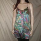 NOTICE Racerback Dress Tunic Floral Print Aqua S 2125
