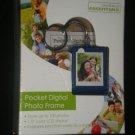 One World Essentials Digital Photo Frame KeyChain BLUE