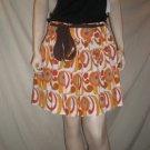 NOTICE Womens Skirt Abstract Print Orange  M