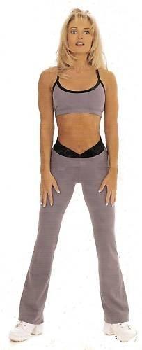 Body Alive Sport Tricot Camisole Bra Top L  Gray