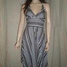 RUBY Halter Stripes Dress Black & White S Style 25591TY