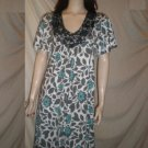 TWO FLOWERS By Jasmine V-Neck Dress Floral  Blue M