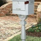 Solar Group Lockable Pedestal large Mailbox PEDW White
