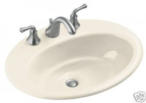 Kohler Thoreau Self Rim Lavatory Sink K-2907-8 White