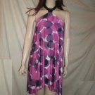 CURTSEY Halter Dress Abstract Print Fushia S