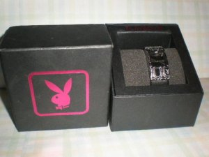 PLAYBOY Women Wrist Ladies Watch  Band Chrome  Black