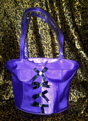 Romantic Corset Handbag Hand bag Purple