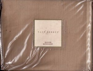 NATE BERKUS Tuilliaries Cal King Bedskirt  Wheat