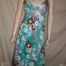 NOTICE Spaghetti Strap Dress Floral Print Teal  8 M