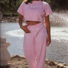 Body Alive Woman Sport Sweat Pants Sweatpants L Pink