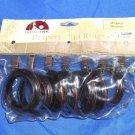 INDIA INK Miramar Drapery Decorative Clip Rings Mahogany 923