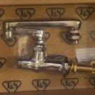 T&S Commercial Deck Mount Cold Handle Single Pantry  Faucet B-0208 Chrome